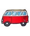 Badlaken rode camper busje 150 x 110 cm