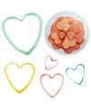 Bakvormpjes hart 5 stuks