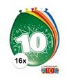 Ballonnen 10 jaar van 30 cm 16 stuks gratis sticker