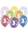 Ballonnen 3 met sterretjes 6x