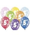 Ballonnen 5 met sterretjes 6x