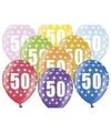 Ballonnen 50 met sterretjes 6x