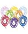 Ballonnen 6 met sterretjes 6x