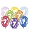 Ballonnen 7 met sterretjes 6x