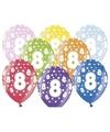 Ballonnen 8 met sterretjes 6x