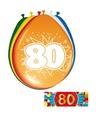 Ballonnen 80 jaar van 30 cm 16 stuks gratis sticker