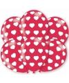 Ballonnen met hartjes motief 6 stuks