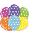 Ballonnen met sterren motief 6 stuks