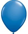 Ballonnen metallic blauw 50 stuks