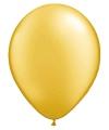 Ballonnen metallic goud 50 stuks