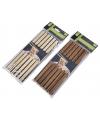 Bamboe eetstokjes donker hout 12 stuks
