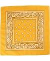 Bandana geel 55x55 cm