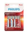 Batterijen lr6 aa philips 4 stuks