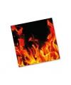 Bbq servetten met vlammen 20 stuks