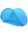 Beachshelter blauw pop up