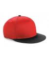 Beechfield kindercap rood zwart