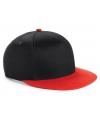 Beechfield kindercap zwart rood