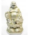 Beeld boeddha op lotus goud 28 cm