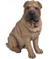 Beeld bruine sharpei hond 55 cm