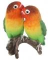 Beeld lovebirds papegaaien 38 cm