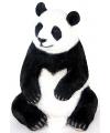 Beeld zittende pandabeer 46 cm