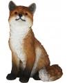 Beeld zittende vos 32 cm