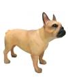 Beeldje bruine franse bulldog 11 cm