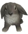 Beeldje grijze hangoor konijn 15 cm