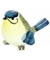 Beeldje pimpelmees vogel 15 cm