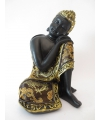Beeldje slapende boeddha 19 cm
