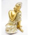 Beeldje slapende boeddha goud 19 cm