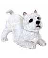 Beeldje west highland terrier wit 36 cm