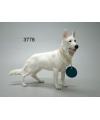 Beeldje witte herdershond 19 cm