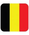 Bierviltjes belgische vlag vierkant 15 st