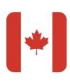 Bierviltjes canadese vlag vierkant 15 st