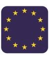 Bierviltjes europese vlag vierkant 15 st