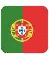 Bierviltjes portugese vlag vierkant 15 st