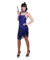 Blauw charleston jurkje voor dames