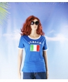Blauw dames shirt italie