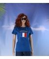 Blauw dames t shirt frankrijk