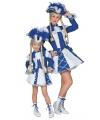 Blauw dansmarieke kostuum voor meisjes