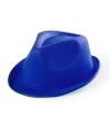 Blauw gleufhoedje voor kinderen