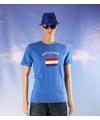 Blauw heren t shirt holland
