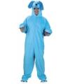 Blauw honden kostuum voor volwassenen
