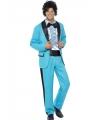 Blauw jaren 80 kostuum voor heren