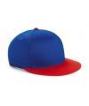 Blauw met rode kinder baseball cap