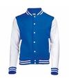 Blauw met wit college jacket voor dames