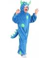 Blauw monster pak voor kinderen