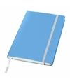 Blauw notitie boek gelinieerd a5 formaat