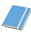Blauw pocket notitie boekje gelinieerd a6 formaat